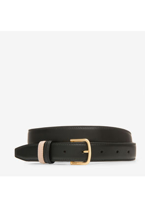 Bally Sofia 25Mm Black, Women's plain calf leather fixed/reversible belt in black