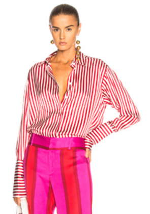 Maggie Marilyn Aimee's Shirt in Stripes,Red