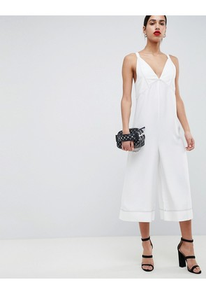 ASOS DESIGN Cami Jumpsuit With Top Stitch Detail - Ivory
