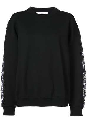 Sweatshirt With Floral Lace Details