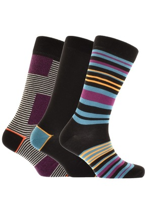 Ted Baker Holy 3 Pack Socks Black