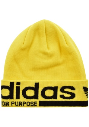 Adidas Originals Beanie Hat Yellow