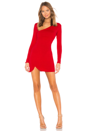 Curved Neck Long Sleeve Dress