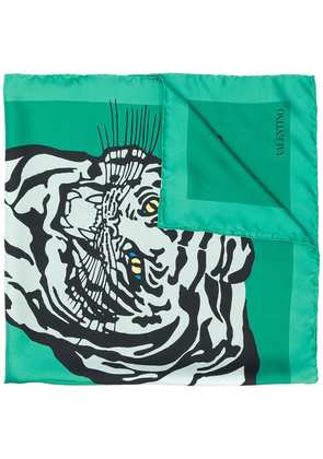 Valentino printed scarf - Green