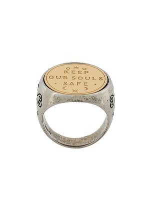 Givenchy keep your souls safe ring - Metallic
