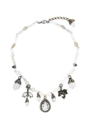 Alexander McQueen pearl charm necklace - Metallic