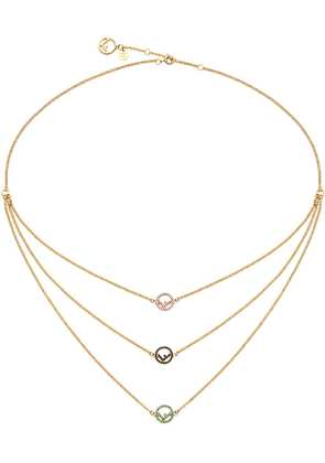 Fendi rainbow chain necklace - Metallic