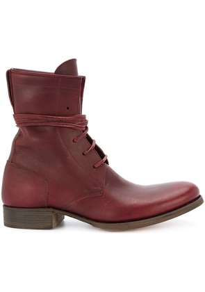 C Diem 5-Hole lace-up boots - Red