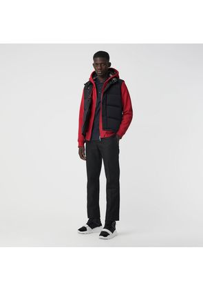 Burberry Check Detail Jersey Hooded Top, Red