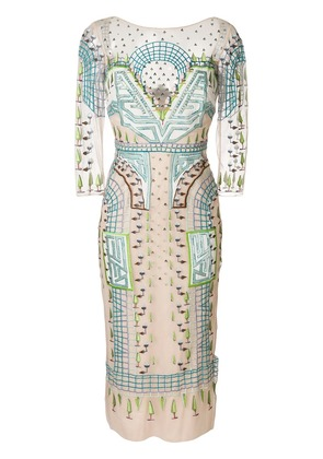 Temperley London Maze midi dress - Multicolour