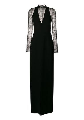 Givenchy long sleeved lace dress - Black