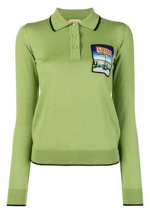No21 embroidered polo T-shirt - Green