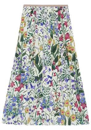 Gucci Floral print pleated skirt - White