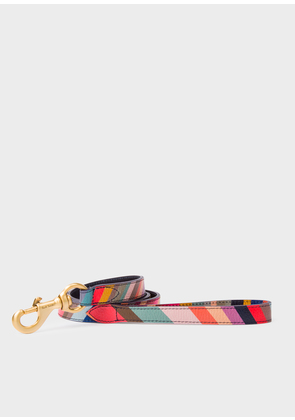 Paul Smith 'Swirl' Print Calf Leather Dog Lead