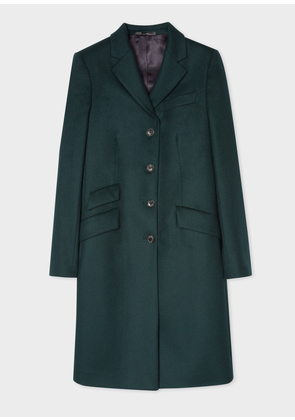 Women's Forest Green Wool And Cashmere-Blend Epsom Coat