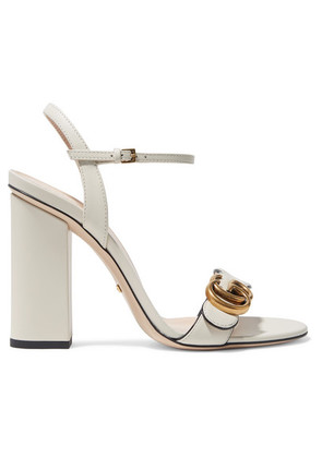 Gucci - Marmont Logo-embellished Leather Sandals - Ivory