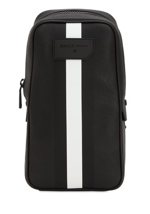 STRIPED FAUX LEATHER CROSSBODY BAG