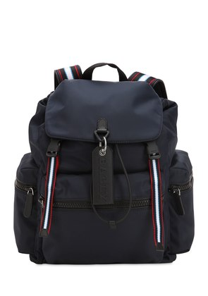 NYLON BACKPACK W/ STRIPES DETAILS