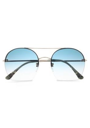 722bf664dee60 Tom Ford Woman Square-frame Gold-tone And Acetate Sunglasses Gold Size -