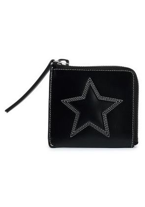 Mcq Alexander Mcqueen Woman Embroidered Leather Wallet Black Size -