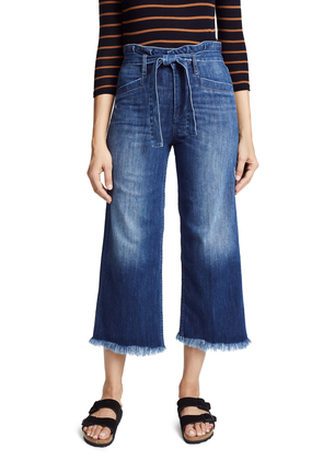 PAIGE Sutton Cropped Paperbag Waist Jeans