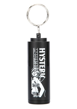 Hysteric Glamour logo keyring - Black