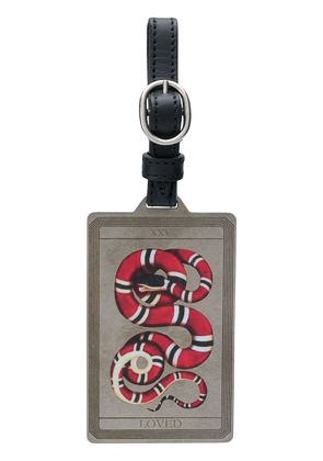 Gucci embroidered luggage tag - Metallic