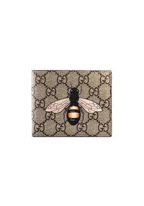 Gucci Bee print GG Supreme wallet - Nude & Neutrals