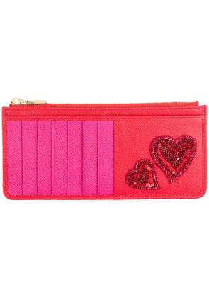 Dolce & Gabbana heart embroidered cardholder