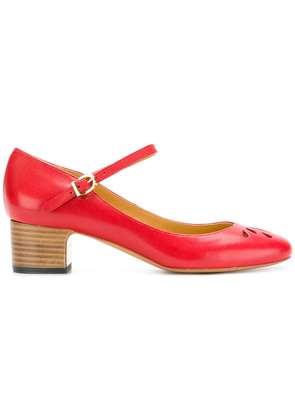 A.P.C. strapped pumps - Red