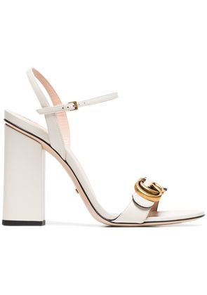 Gucci Marmont 105 Leather Sandals - White