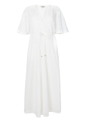 Temperley London Sunrise v-neck dress - White