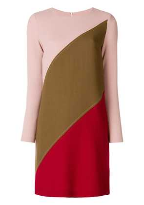 P.A.R.O.S.H. panelled shift dress - Pink & Purple