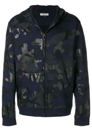 Valentino camouflage print hoodie - Blue