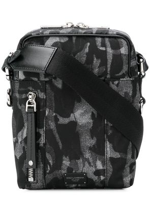 Dolce & Gabbana printed messenger bag - Black