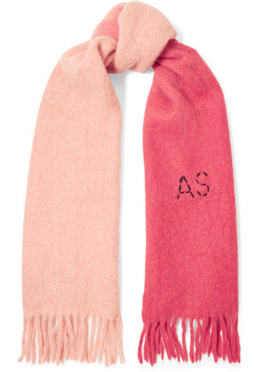 Acne Studios - Kelow Two-tone Embroidered Felt Scarf - Pink