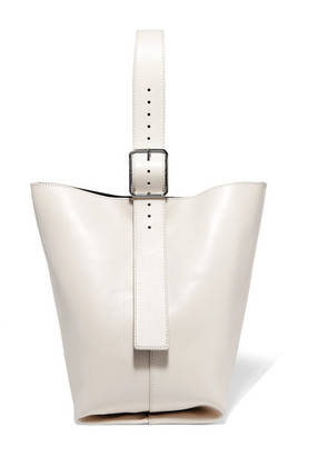 Theory - Hobo Leather Shoulder Bag - Cream