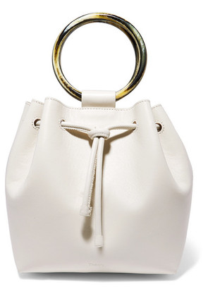 Theory - Drawstring Leather Tote - Cream