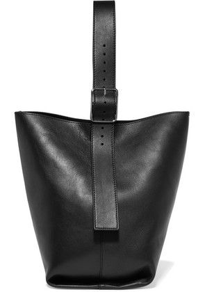 Theory - Hobo Leather Shoulder Bag - Black