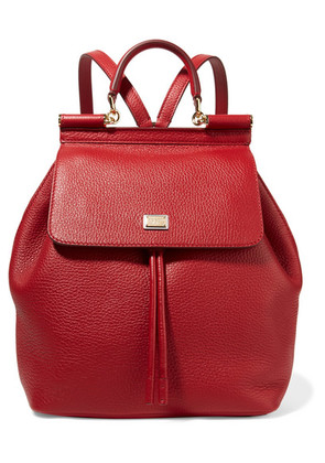 Dolce & Gabbana - Sicily Medium Textured-leather Backpack - one size