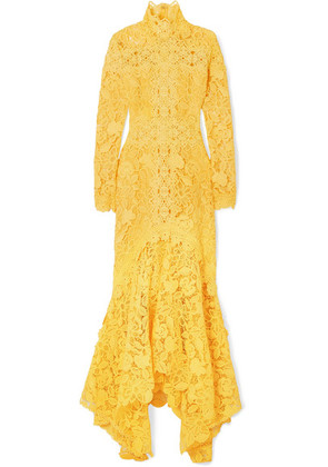 Costarellos - Guipure Lace Gown - Yellow