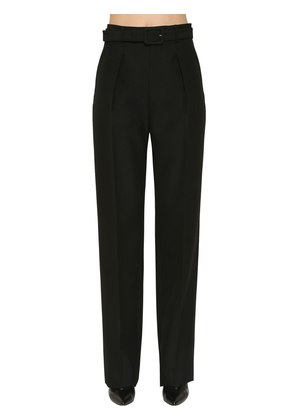 WIDE LEG COOL WOOL PANTS