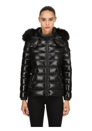 BADY LAQUÉ NYLON DOWN JACKET W/ FUR