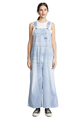 R13 Refurbished Railroad Stripe Overall Dress