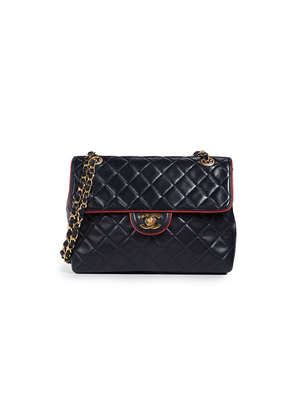 What Goes Around Comes Around Chanel Piped Half Flap Bag