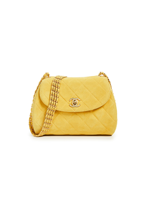 What Goes Around Comes Around Chanel Suede Shoulder Bag
