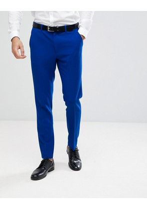 ASOS Skinny Suit Trousers In Bright Blue - Royal blue
