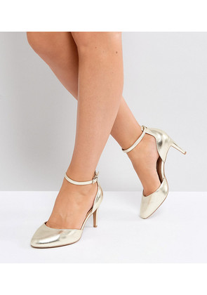 ASOS SWALLOW Wide Fit Heels - Champagne gold