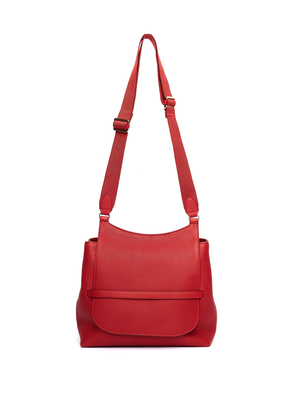 Red Leather Sideby Bag