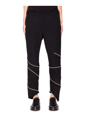 Black Zip-Trimmed Trousers